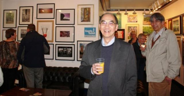 Photo above shows guests at the Private View of the 10th Open Exhibition, on 25th October 2012