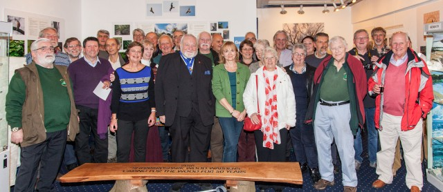 Former Mayor Howard Morgan with the Sherrardspark Wood Wardens