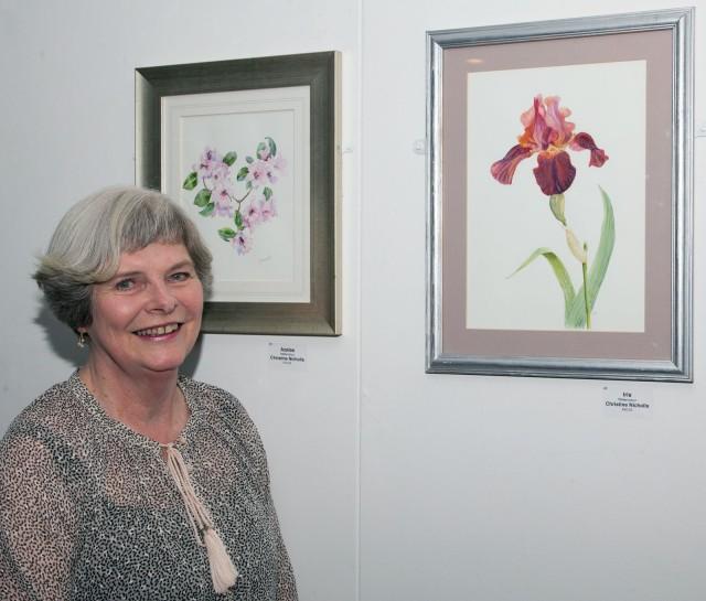 Christine Nicholls of the Childwick Botanical Artists